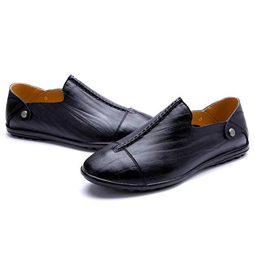 Phil Betty Mens Loafers Shoes Non-Slip Wear-Resistant Comfortable Flat Casual ()