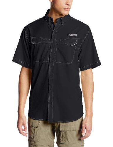 Columbia Men's PFG Low Drag Offshore Short Sleeve Shirt , Black , X-Large