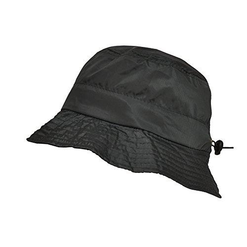 - TOUTACOO, Adjustable Waterproof Bucket Rain Hat in Nylon, Easy to fold Grey Army