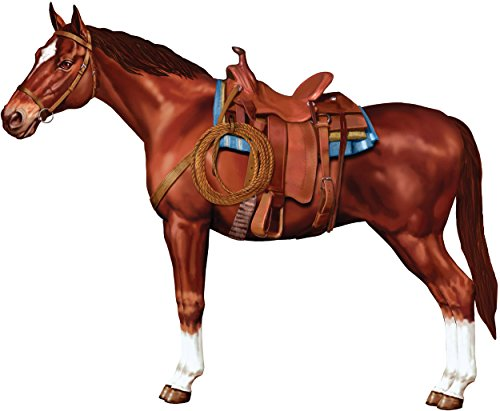 3' Jointed Horse Old West Country Wall Figurine Posable Prop Decoration ()