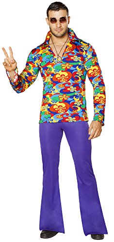 Disco Outfit Men (Men's Hippie Disco Complete Costume (Large))