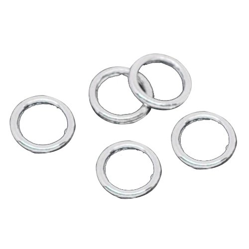 6mm Closed Jump Rings - SODIAL(R) 500 Silver Soldered Closed Jump Rings 6mm