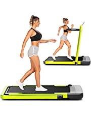 ANCHEER 2 in 1 Folding Treadmill,Electric Under Desk Treadmill with App & Remote Control,Acrylic Touch Screen,Walking Jogging for Homm Office,Simple Assemble
