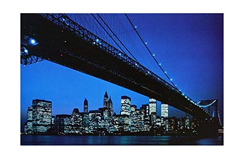 "Photo Poster Print ""Manhattan Skyline and Brooklyn Bridge, New York"" (24.5 x 16 inches)"