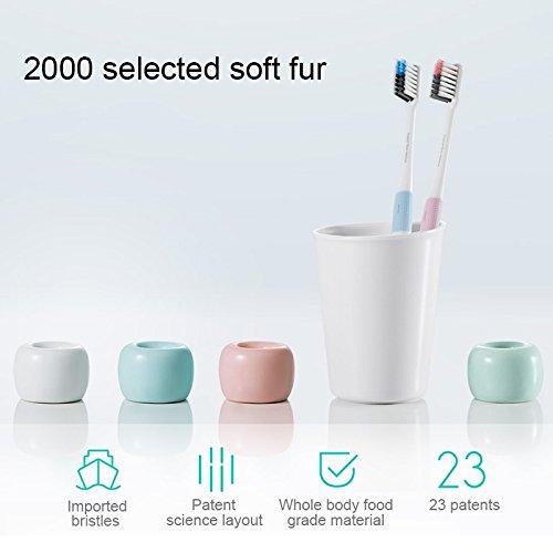 Cepillo de dientes suave Xiaomi mijia dr. bei Bass Method rosa: Amazon.es: Salud y cuidado personal