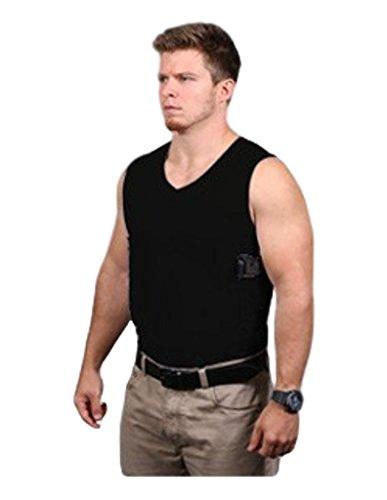 Ridge Shirt Mens Packin Tee Concealment V-Neck Sleeveless Black 411W