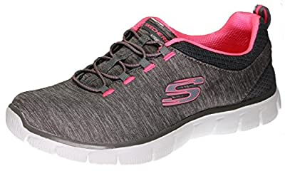 Skechers Empire Mine All Mine Women's Fashion Sneakers, Charcoal/Coral 9 US