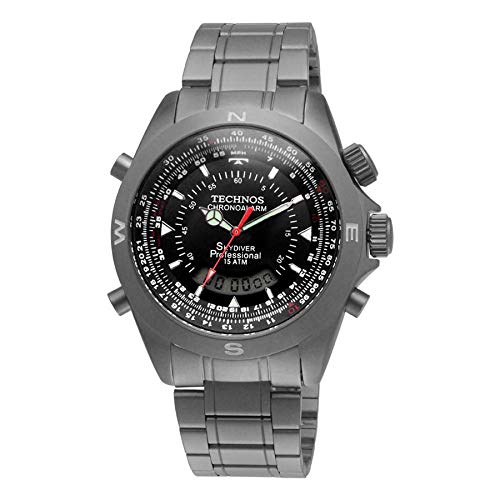 Relógio Technos Masculino Analógico e Digital Esportivo Prata T20563/1P