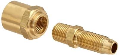 "Dixon BN32RU68 Brass Reusable Fitting, Adapter, 1/4"" NPTF Male x 3/8"" Hose ID, 11/16"" Hose OD"