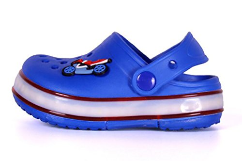 Children Boys Girls LED Clog Flash Lighted Summer Beach Shoes Walking Slippers Unisex Sandal Animals Shoe