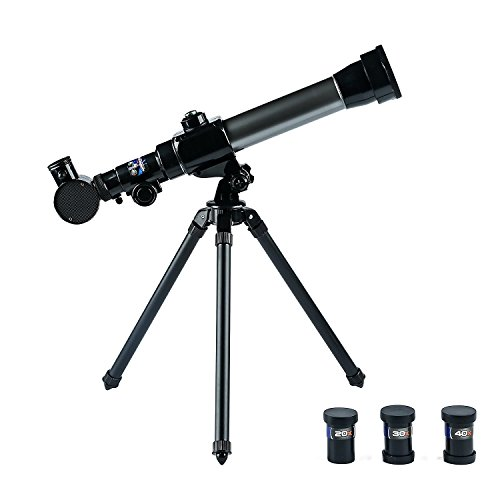 - TELESCOPE FOR KIDS - Easy to Use-Detachable-3 Magnification Eyepieces-an Adjustable Tripod for Kids-Enjoy a Steady Observation of the Moon and Stars with a Telescope that's Fun for Astronomy Beginners