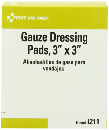 First Aid Only Gauze Dressing Pads, 10 Count , 20 Sterile (Security First Aid)