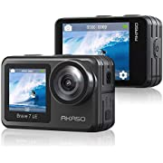 AKASO Brave 7 LE Dual Display 4K 30FPS 20MP WiFi Action Camera with Touch Screen Vlog Camera EIS 2.0 Remote Control 131…