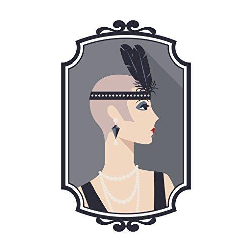 1920's Flapper Girl in Frame Vinyl Decal Sticker (4