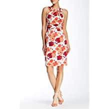 Adrianna Papell Cutaway Floral Sheath Dress , Multicolored,Size 10