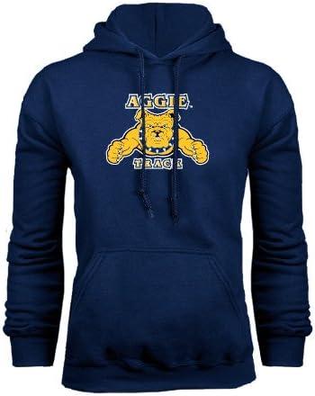 CollegeFanGear North Carolina A/&T Navy Fleece Hoodie Track