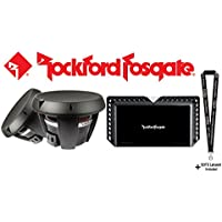 Rockford Fosgate Power T1D412 Two 12 dual 4-ohm voice coil component subwoofers & Rockford Fosgate T1500-1bdCP Power Series mono sub amplifier 1500 watts RMS x1 at 2 ohms & SOTS Lanyard