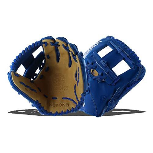 Nokona SKN Series 11.5 Inch SKN-6-RY Baseball Glove - Royal Lacing (Nokona Leather Infield Glove)