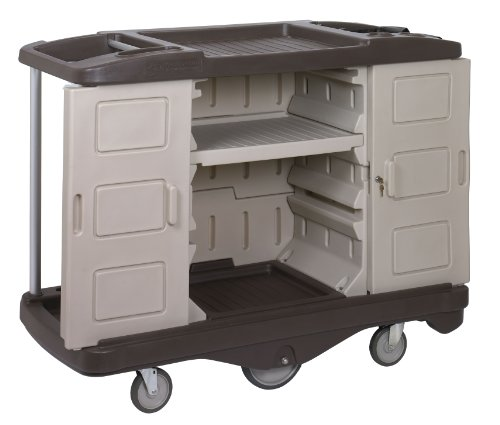 Continental-1585BEBN-BeigeBrown-Deluxe-Lodging-Cart-Case-of-1