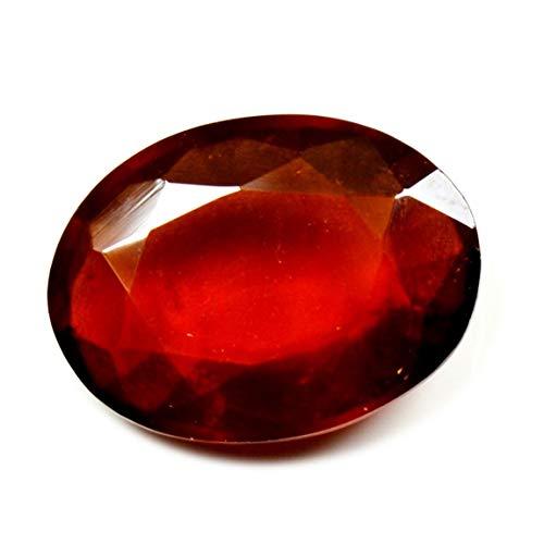 CaratYogi Naturtal Hessonite Garnet Loose Gemstone 5 Carat Oval Cut Astrological Birthstone for Jewelry