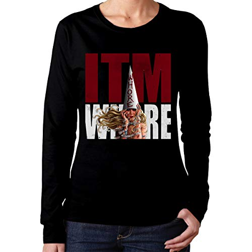 PeterF Women's in This Moment Maria Brink Whore Long Sleeve Tee Black M -