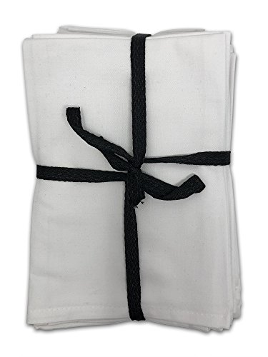 MoLi Products Cloth Napkins Dinner Linens 100% Egyptian Cotton 12 Pack Lunch Linen – Decorative Reusable Fabric Table Servilletas de Tela Restaurant Wedding Luncheon Napkin ()