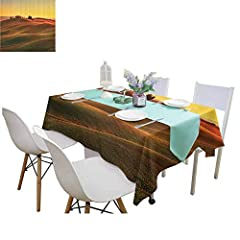 Features:♥Made of high quality 100 percent polyester fabric♥Water Resistant and Stain Resistant♥Tear resistant and wrinkle resistant♥Washable and color fade resistant♥Functional and decorative tablecloths ♥Ideal for all occasion: every day us...