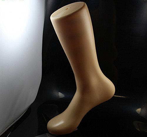 CHENGYIDA 1 Piece 12 Tall Male Magnetic Self Standing Right Leg Foot Mannequin Sock Display