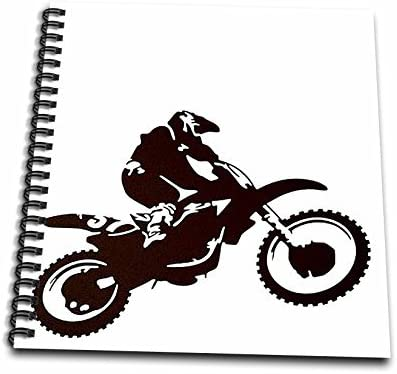 Silhouette Off Road,Motorcross 3dRose db/_78777/_1 Motocross- Bike Tricks-Drawing Book Radical Motorcycle 8 by 8-Inch Motorx