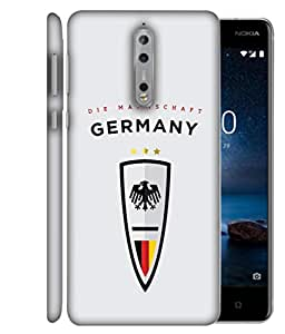 ColorKing Football Germany 01 Grey shell case cover for Nokia 8