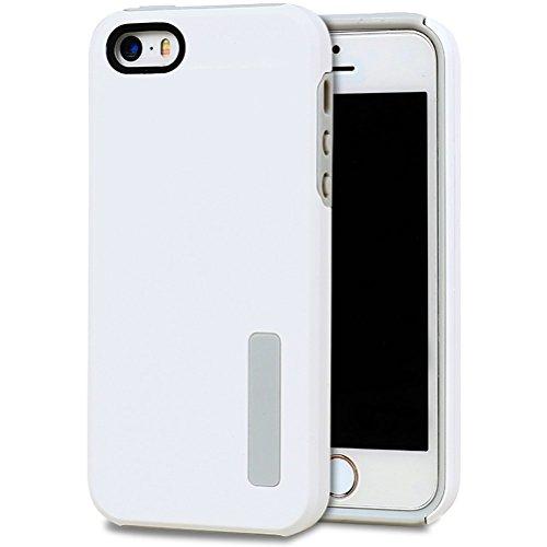 HICASER iPhone SE Case, 5S Hülle, Hybrid Dual Layer Case [Shock Proof] Drop Resistance TPU +PC Handytasche Schutzhülle für iPhone 5 5S / iPhone SE Weiß
