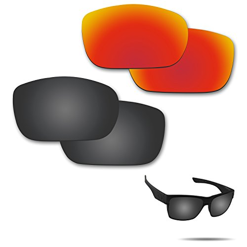 711bcef2a6 Fiskr Anti-Saltwater Polarized Replacement Lenses for Oakley Twoface  Sunglasses 2 Pairs Packed
