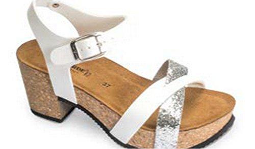 VALLEVERDE - Sandalias de vestir para mujer Bianco