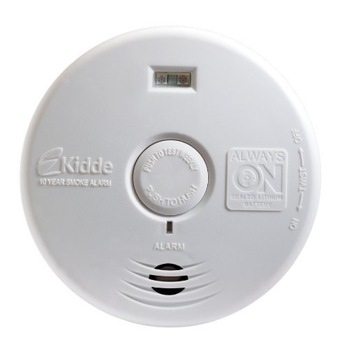 Kidde P3010H Worry-Free Hallway Photoelectric Smoke Alarm with Safety Light and 10 Year Sealed Battery CustomerPackageType: Standard Packaging Style: Hallway, Model: 21010167, Tools & Hardware store