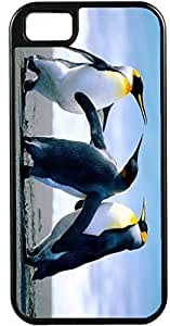 Design Samsung Note 4 Cover Three penguins standing Design