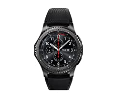 "Gear S3 frontier Dark Gray timeless smartwatch, combining style with the latest innovation in digital technology always on display Watch face 1.3"" super AMOLED full color display. 1 Compatible with select Bluetooth capable smartphones using A..."