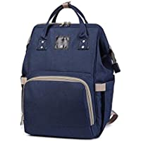 Okayji Multi-Function Waterproof, Baby Travel Backpack Diaper Bag with Large capacity baby Nappy Compartment (Navy Blue)