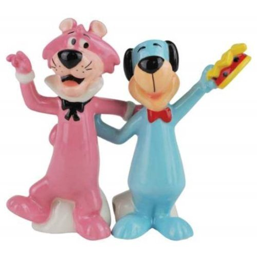 (4 Inch Huckleberry Hound and Snagglepuss Salt and Pepper Shakers)