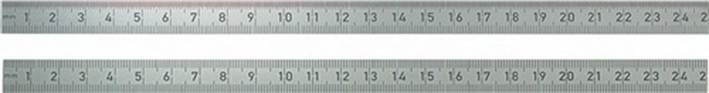 BMI 963040030 Biegsamer Stahlmaß stab, 400 mm, rostfreier Edelstahl, Oberkante 1/2 mm, Teilung Unterkante 1/1 mm