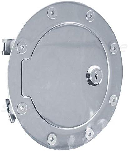 95-99 Chevy Tahoe Chrome Replacement Billet Gas Door Tank Fuel Cover Lock+Keys