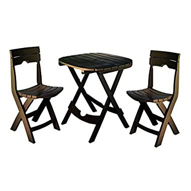 Adams Manufacturing 8590-60-3731 Quik-Fold Cafe Bistro Set, Earth Brown