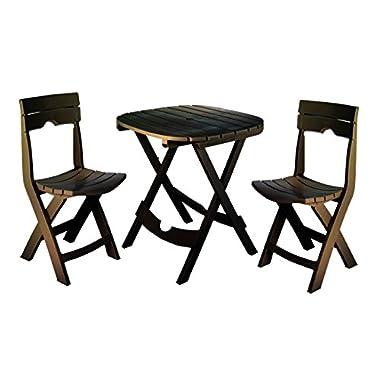Adams Manufacturing 8590-60-3731 Quik-Fold Cafe Bistro Set, Earth Brown