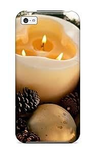 Iphone 5c Christmas Holiday Christmas Print High Quality Tpu Gel Frame Case Cover