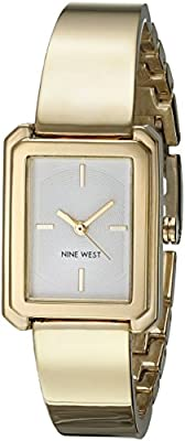 Nine West Women's Quartz Metal and Alloy Dress Watch, Color:Gold-Toned (Model: NW/1914CHGB)