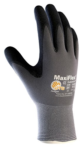 MaxiFlex Endurance 34-844/XL Seamless Knit Nylon Glove with Nitrile Coated Micro-Foam Grip on Palm and Fingers, Micro Dot Palm (Pack of 12)