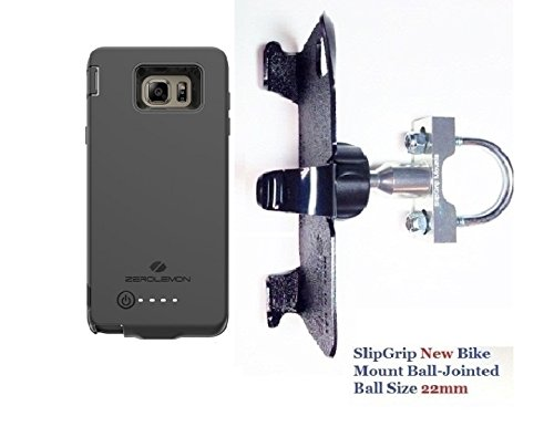 SlipGrip U-Bolt Bike Holder For Samsung Galaxy Note 5 Using Zerolemon 8500mAh EXT BAT Case ()