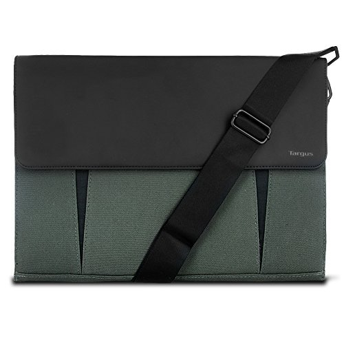 Targus Ultralife Thin Canvas Slipcase for Ultrabooks up to 14-Inch/13-Inch Macbook Air/Macbook (Suede Messenger Bag)