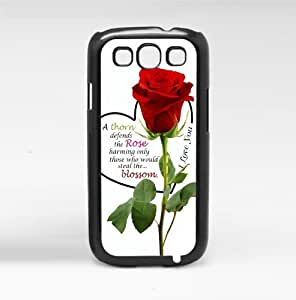 Rose Quote Hard Snap on Phone Case (Galaxy s3 III)