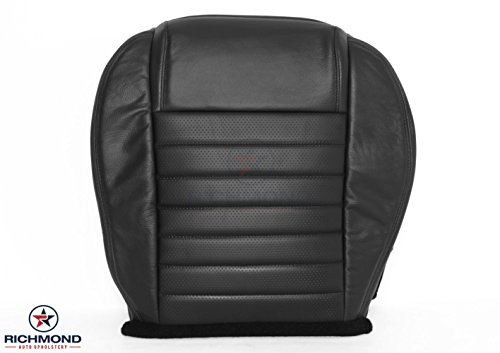 Richmond Auto Upholstery 2005 2006 2007 2008 2009 Ford Mustang GT - Driver Side Bottom Replacement Leather Seat Cover, Black