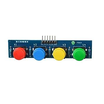 para el Accesorio Arduino Kits Módulo de botón táctil de 4 Teclas Sensor Módulo de Teclado Externo para Arduino: Amazon.es: Electrónica